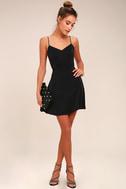 Yours Forever Black Backless Skater Dress 5
