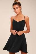 Yours Forever Black Backless Skater Dress 6