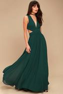 Vivid Imagination Forest Green Cutout Maxi Dress 3
