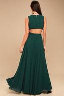Vivid Imagination Forest Green Cutout Maxi Dress 4