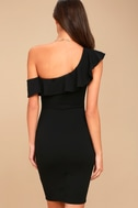 Give Me a Beat Black Off-the-Shoulder Bodycon Midi Dress 4