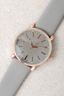 Watch the Clock Rose Gold and Grey Watch 1
