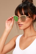 Sun Ray Rose Gold and Pink Mirrored Sunglasses 1