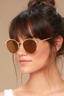 Ultra Babe Gold Sunglasses 1