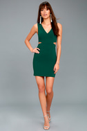Backstage Pass Forest Green Sleeveless Cutout Bodycon Dress 2