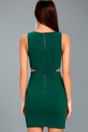 Backstage Pass Forest Green Sleeveless Cutout Bodycon Dress 3