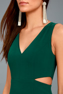 Backstage Pass Forest Green Sleeveless Cutout Bodycon Dress 4