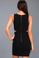 Backstage Pass Black Sleeveless Cutout Bodycon Dress 3