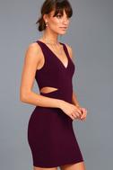 Backstage Pass Plum Purple Sleeveless Cutout Bodycon Dress 2