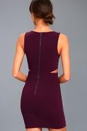 Backstage Pass Plum Purple Sleeveless Cutout Bodycon Dress 3