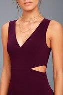 Backstage Pass Plum Purple Sleeveless Cutout Bodycon Dress 4