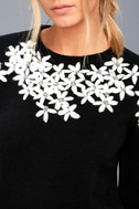 Daisy Do Right Black Embroidered Sweater 5