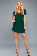 Freestyle Forest Green Shift Dress 2