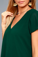 Freestyle Forest Green Shift Dress 5