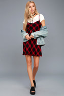 Nick of Time Red and Black Plaid Swing Dress 2