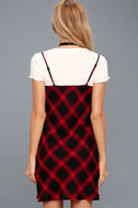 Nick of Time Red and Black Plaid Swing Dress 3