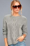 Rhythm Zambia Grey Cable Knit Sweater 3