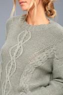 Rhythm Zambia Grey Cable Knit Sweater 5