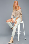 One X One Teaspoon Awesome Baggies Light Wash Destroyed Jeans 1