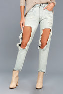 One X One Teaspoon Awesome Baggies Light Wash Destroyed Jeans 2