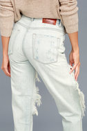 One X One Teaspoon Awesome Baggies Light Wash Destroyed Jeans 4