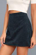 Head of the Class Navy Blue Corduroy Mini Skirt 4