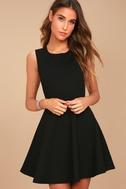 Need You Close Black Lace Backless Skater Dress 3