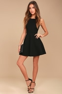 Need You Close Black Lace Backless Skater Dress 2