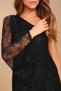 Come to Play Black Lace One-Shoulder Dress 4