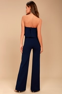 Power of Love Navy Blue Strapless Jumpsuit 3