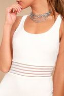Pendulum White Bodycon Dress 8