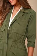 BB Dakota Averie Olive Green Utility Jacket 5