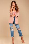 Put Together Blush Pink Blazer 1