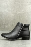 Wanted Pecos Black Leather Ankle Boots 2