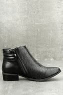 Wanted Pecos Black Leather Ankle Boots 3