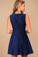 Into the Night Royal Blue Skater Dress 4