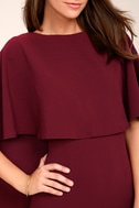 Best is Yet to Come Burgundy Backless Dress 4