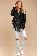 Cozy Nights Black Plaid Flannel Knotted Top 2