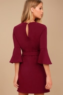 Last Love Song Burgundy Tie-Waist Dress 3