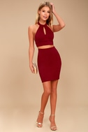 Chic My Interest Red Lace Two-Piece Dress 2