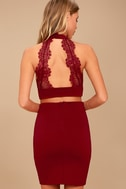 Chic My Interest Red Lace Two-Piece Dress 3