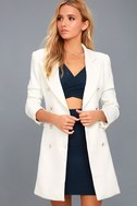 Captain's Blog White Double-Breasted Coat 5