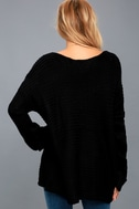 PPLA Vidal Sweater - Black Knit Sweater - Oversized Sweater