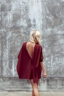 Best is Yet to Come Burgundy Backless Dress 5