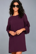 Move and Shake Plum Purple Shift Dress 1