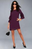 Move and Shake Plum Purple Shift Dress 2