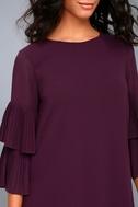 Move and Shake Plum Purple Shift Dress 4