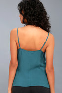 Take Note Teal Blue Wrap Top 3