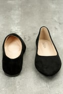 Holly Black Suede Flats 4