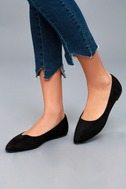 Holly Black Suede Flats 5